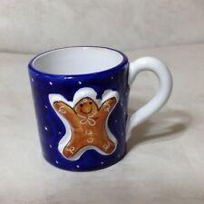 Starbucks Embossed Relief Gingerbread Man Serna Deruta Mug Cup Christmas Italy