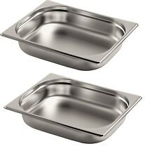 2 x Gastronormbehälter GN Behälter 1/2 65 mm tief geeignet für Chafing Dish Neu