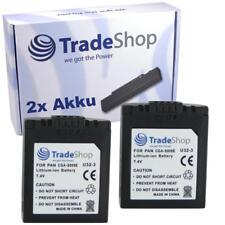 2x batería panasonic dmc-fz50 dmc-fz30 dmc-fz18 dmc-fz7