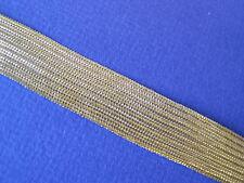 """2775 BRAID Gold Metallic Trim 5/8"""" W 6 Yds"""