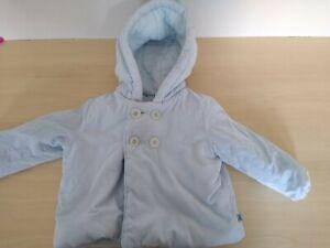 9-12m: Cute Jasper Conran blue cord hooded jacket: Jersey lining: Combine post