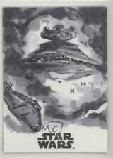 SOLO A STAR WARS STORY SKETCH CARD BY ANIL SHARMA RARE AUTO AUTOGRAPH SIGNED