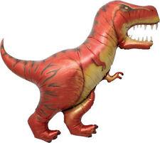 "T REX Dinosaur Balloon 41"" Foil Mylar Dino Jurassic Park Birthday Party Supplies"