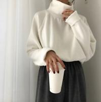 Women Cashmere Mink Fur Pullover Sweater Oversized Loose Stretch Top Coat Jacket