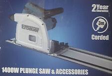 Erbauer erb690csw 185mm tuffo Saw 240v & 2 x 700mm GUIDE 240v NUOVO