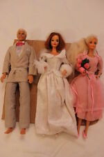 Wedding Party 3 Dolls Barbie Red Hair Ken Blond Hair Barbie Platinum Hair