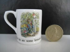 RARE WEDGWOOD PETER RABBIT BEATRIX POTTER BONE CHINA   MINIATURE  MUG TANKARD