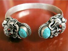 Women's Antique Tibetan Silver Dragon Bangle Christmas Birthday Girlfriend Gift
