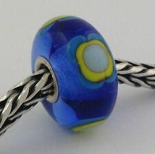 Authentic Trollbeads Ooak Murano Glass Unique Bead Charm #255, 14mm Diameter New
