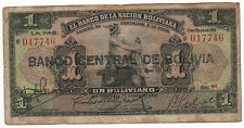 BOLIVIA 1 BOLIVIANO 1911 PICK 112 LOOK SCANS