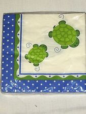 NEW TURTLE DOTS . BIRTHDAY / SHOWER  16- LUNCH NAPKINS PARTY SUPPLIES