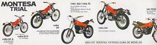 1970's Montesa Trial Cota 25 49 74 123 247 348 original Spanish sales brochure