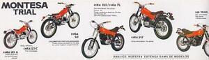 1970's Montesa Trial Cota 25 49 74 123 247 348 original Spanish sales brochure