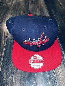 Men's New Era 9Fifty Washington Capitals Navy & Red Snapback S/M NWT