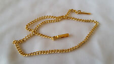 10th 9ct ROLLED GOLD CURB LINK CHAIN ANKLET 14