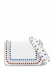 NWT $495 MARC JACOBS PYT STUDDED LEATHER SHOULDER BAG STAR WHITE