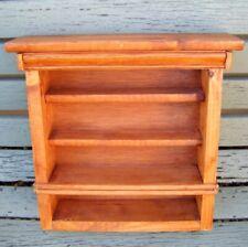 Rustic Solid Wood Mini Shelf Dresser Vintage Country Kitchen ~ Curios / Display