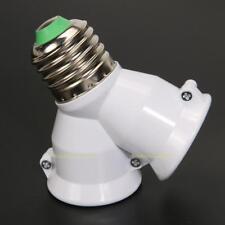 E27 to 2E27 2 to 1 Screw Light Bulb Socket Double Fitting Lamp Adaptor Splitter