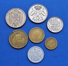 Lot: 7 Monnaies de Monaco dont 1 & 2 Francs 1926 & 1924