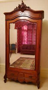 French Armoire / French Mahogany Wardrobe / Antique