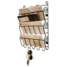 Letter Rack Wall Mount Keys Organiser Mail Storage Home Hook Box Hanging Bill