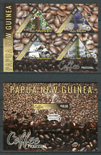Papua New Guinea PNG 2018 MNH Coffee Processing Beans 5v on 2 M/S Nature Stamps