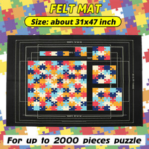2000 Pieces Jigsaw Puzzle Storage Mat Roll Up Puzzle Felt Storage Pad Up USA
