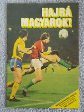 1981 - HUNGARY v ENGLAND PROGRAMME - WORLD CUP 82 QUALIFIER - V.G CONDITION