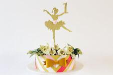 Ballerina Glitter Oro una cake topper - 1st compleanno, numero personalizzato per Cupcake Top