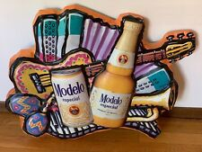 """Modelo Especial Molded Plastic Beer Wall Sign Product of Mexico 24"""" X 30"""" Htf"""