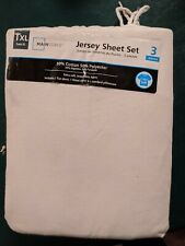 Mainstays White Jersey Sheets Bedding Set Twin Xl