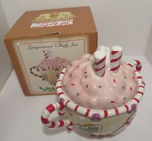 Gingerbread Candy Jar, Christmas Theme, Old Fashion Ginger Spice RN: 211159