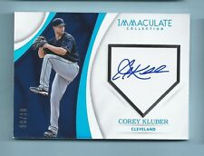 COREY KLUBER 2017 PANINI IMMACULATE HOME PLATE SIGNATURES AUTOGRAPH AUTO /10