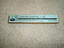 Atf Century Oldstyle Series 61 Foundry Type 6 Point Figures Letterpress