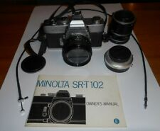 Minolta Srt 102 Slr Camera With Rokkor 1:1.7 50mm Lens and accessories
