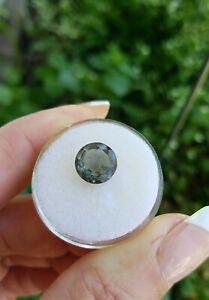 9mm Round Natural Transparent Black-Green Tourmaline Loose Gemstone