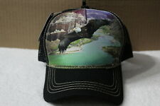 EAGLE MOUNTAIN WATER OUTDOOR SNAPBACK BASEBALL CAP HAT MESH BACK ( BLACK BILL )