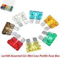 Assorted Car Mini Low Profile Fuse Box 5 7.5 10 15 20 25 30 A DIY 100Pcs Color