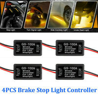 4X GS-100A Flash Strobe Controller Box Flasher Module LED Brake Tail Stop Lights