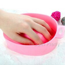 Nail Art Hand Soak Bowl Tray Treatment Remover Manicure Tools (Random Color)