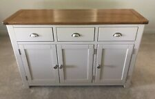 Cotswold Company - Large 3 Door & Drawer Sideboard in Oak & Lundy Stone Paint.