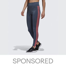 adidas Designed 2 Move 3-Stripes High-Rise Long Tights Women's
