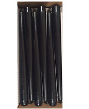 6 BLACK Tapered Candles 25cm Tall Non Drip BLACK