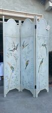 Vintage Real Wood Hand Painted Wall Divider