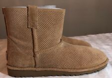 UGG Unlined Classic Mini Perf Suede Boots/ BOOTIES 1016852 Tan Sz 6 Woman's New