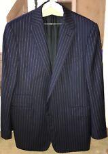 Ralph Lauren Purple Label Suit Jacket 44R Designer Navy Pinstripe
