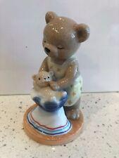 B&G Bing & Grondahl 2001 Victoria Porcelain Teddy Bear Figurine Mother Baby Star
