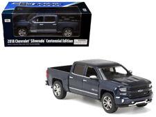 2018 Chevy Silverado Centennial 100 Diecast Truck 1:27 Motormax 8 inch Blue 1/24