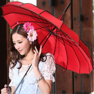UV Rain Umbrella Pagoda Parasol, Bridal Wedding Umbrellas, Sunproof Waterproof