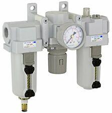 Pneumaticplus Heavy Duty Frl Air Filter Regulator Lubricator Combo 12 Npt
